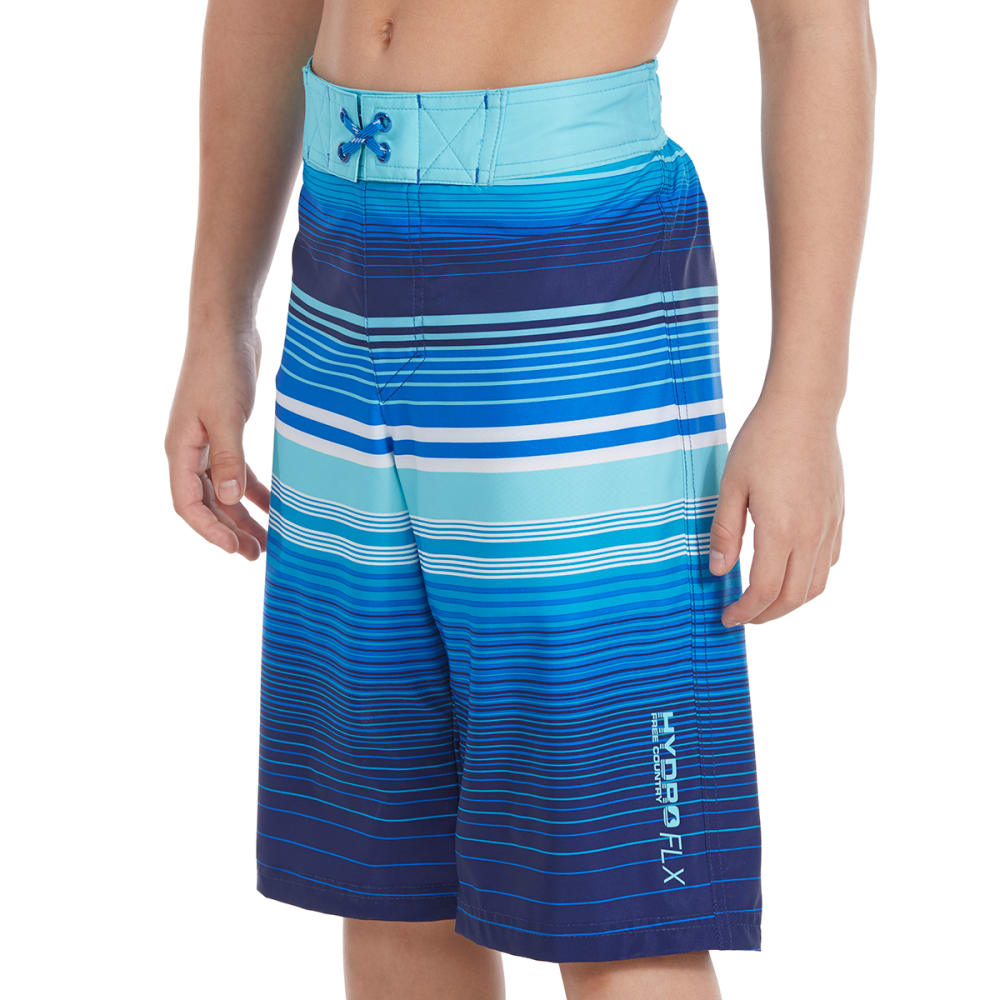 FREE COUNTRY Big Boys' Ripple Effects HydroFLX Boardshorts S