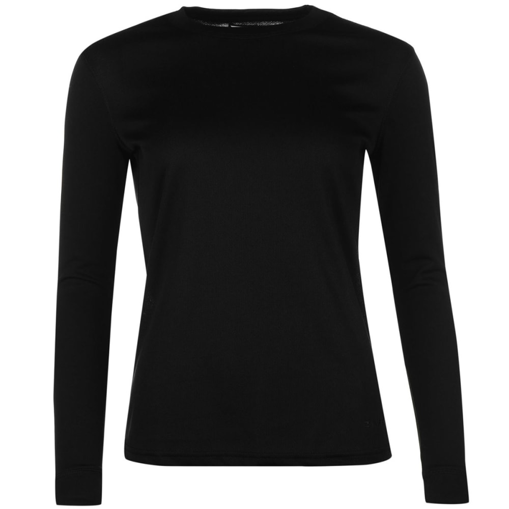 CAMPRI Women's Thermal Baselayer Top - BLACK