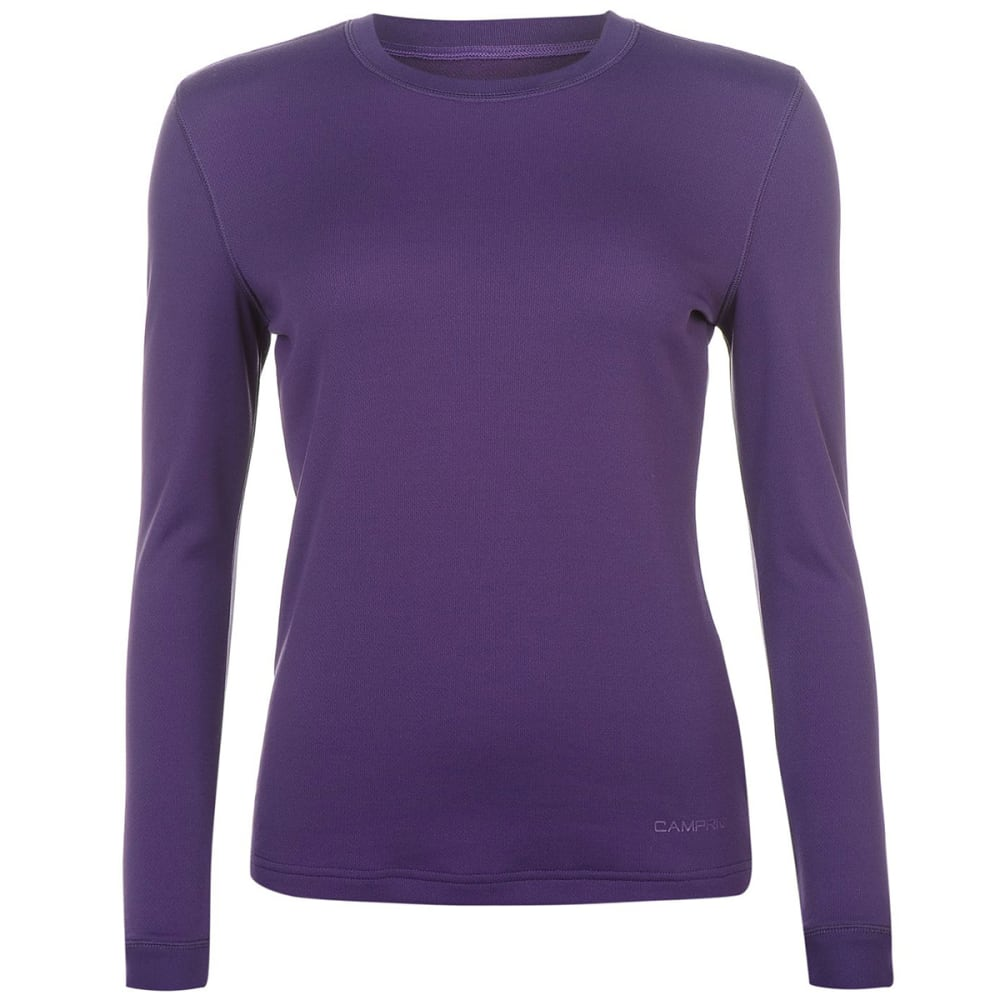 CAMPRI Women's Thermal Baselayer Top - PURPLE
