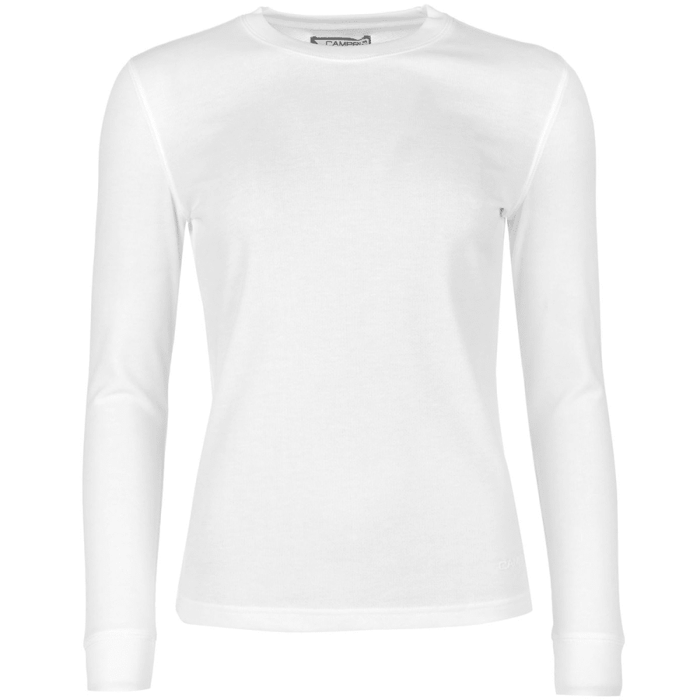 CAMPRI Women's Thermal Baselayer Top - WHITE