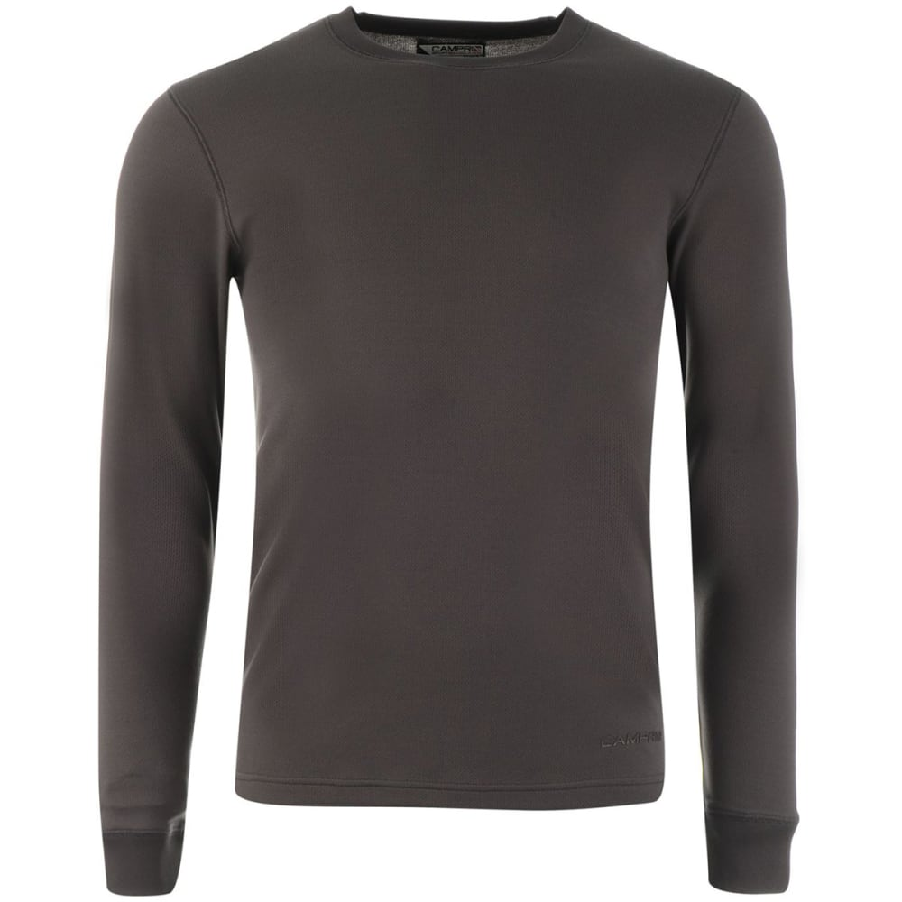 CAMPRI Men's Thermal Baselayer Top - CHARCOAL