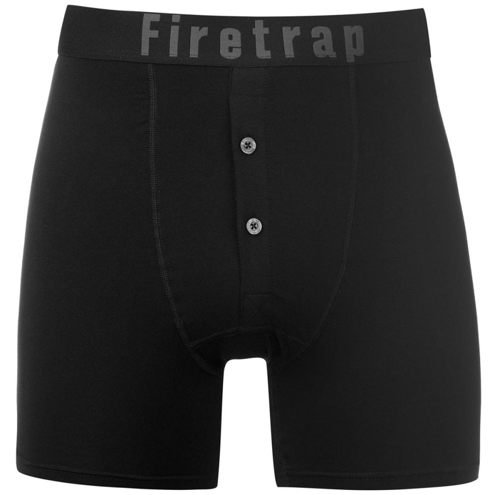 FIRETRAP Men's Boxers, 2-Pack - Black / Stripe