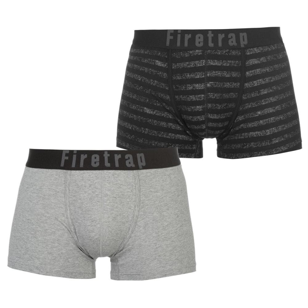 FIRETRAP Men's Trunks, 2-Pack - Grey / Stripe