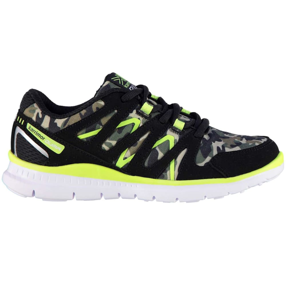 KARRIMOR Boys' Duma Running Shoes - BLACK/CAMO