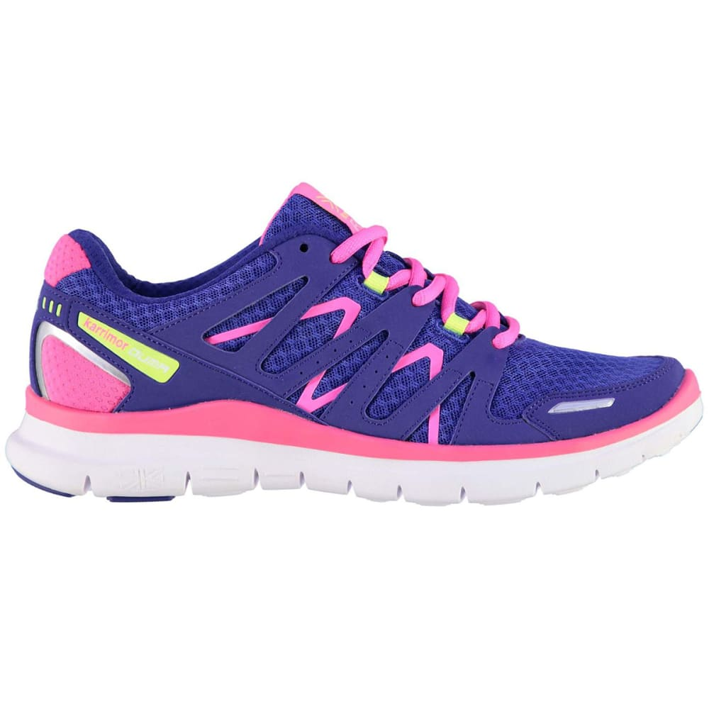 KARRIMOR Girls' Duma Running Shoes - Blue/Pink/Lime