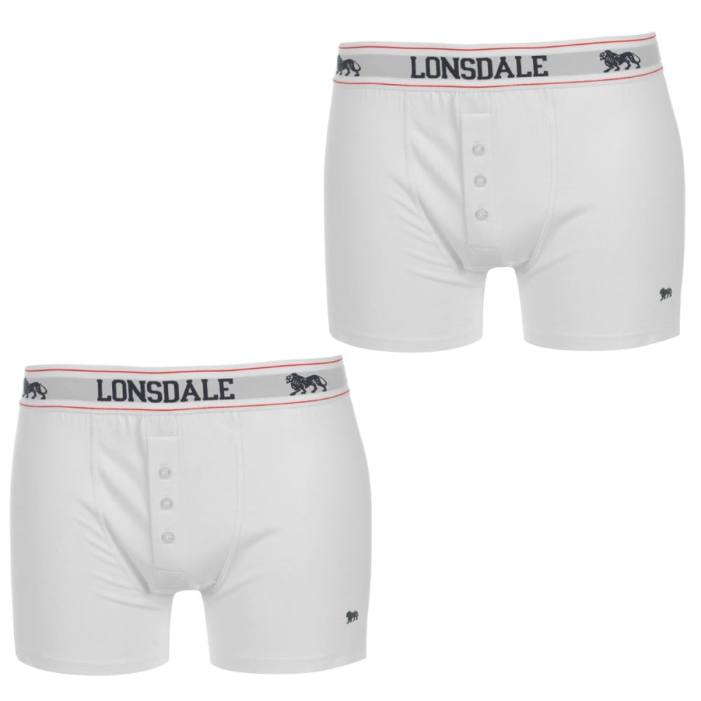 LONSDALE Men's Boxers, 2-Pack - WHITE