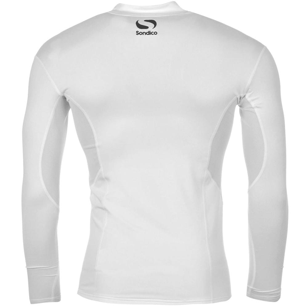 SONDICO Boys' Base Mock Neck Long-Sleeve Top - WHITE