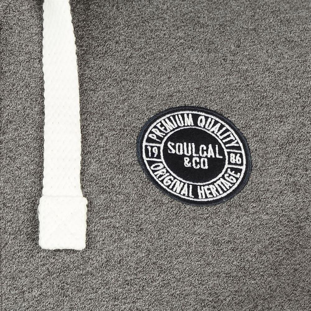 SOULCAL Men's Signature Full-Zip Hoodie - Dk Charcoal M