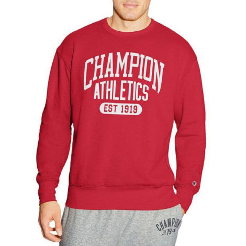 CHAMPION Men's Heritage Fleece Sweatshirt - RED-QD1