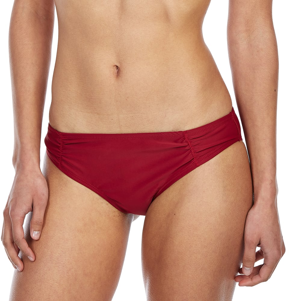 HOT WATER Juniors' Cheeky Bikini Bottoms - GNT-GARNET
