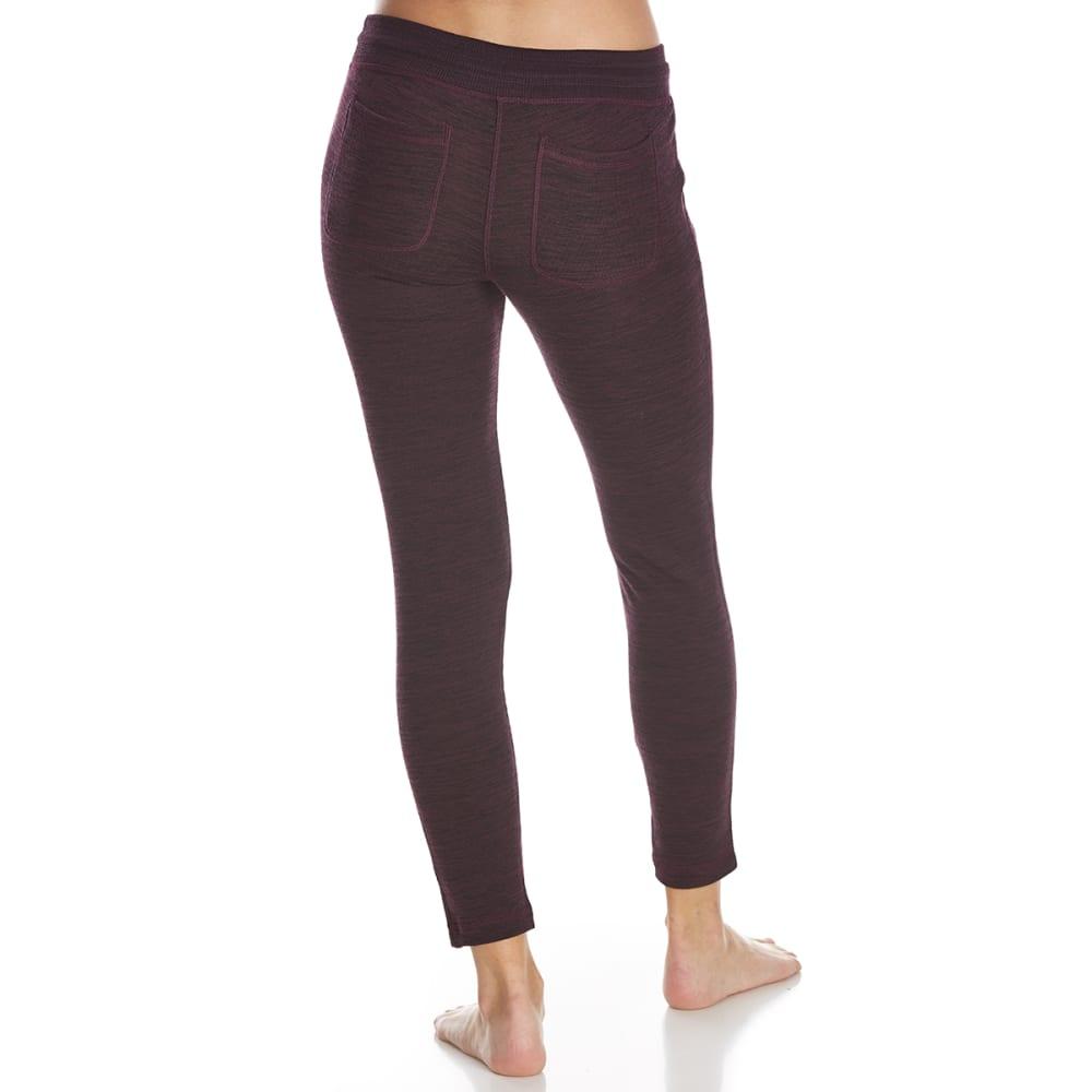 YOGALICIOUS Women's Jogger Pants with Back Pockets - HTR MERLOT