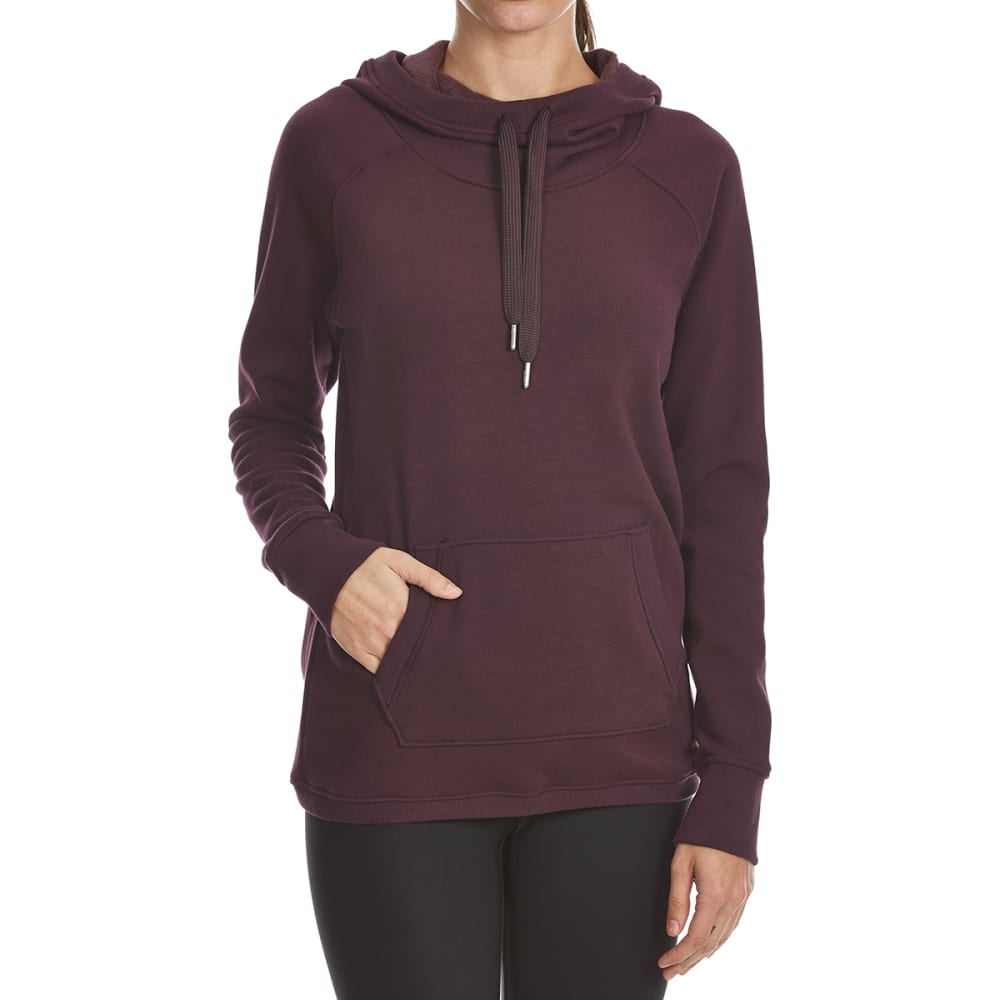 YOGALICIOUS Women's Hooded Long-Sleeve Pullover - MERLOT