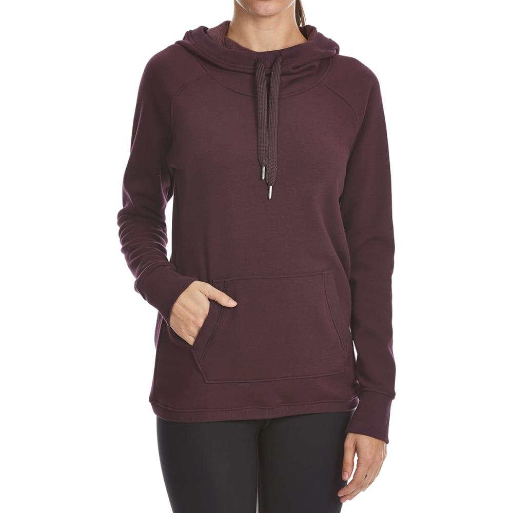 YOGALICIOUS Women's Hooded Long-Sleeve Pullover - MERLOT