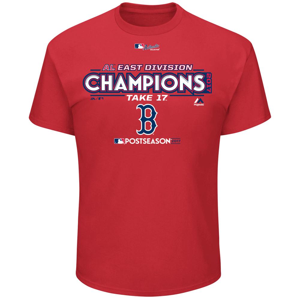 BOSTON RED SOX Men's 2017 AL East Division Champions Locker Room Short-Sleeve Tee - RED