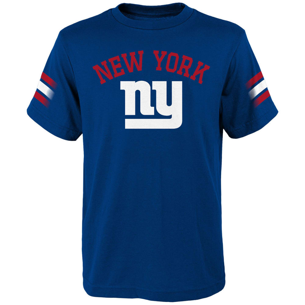 NEW YORK GIANTS Big Boys' First Line Short-Sleeve Tee - ROYAL BLUE
