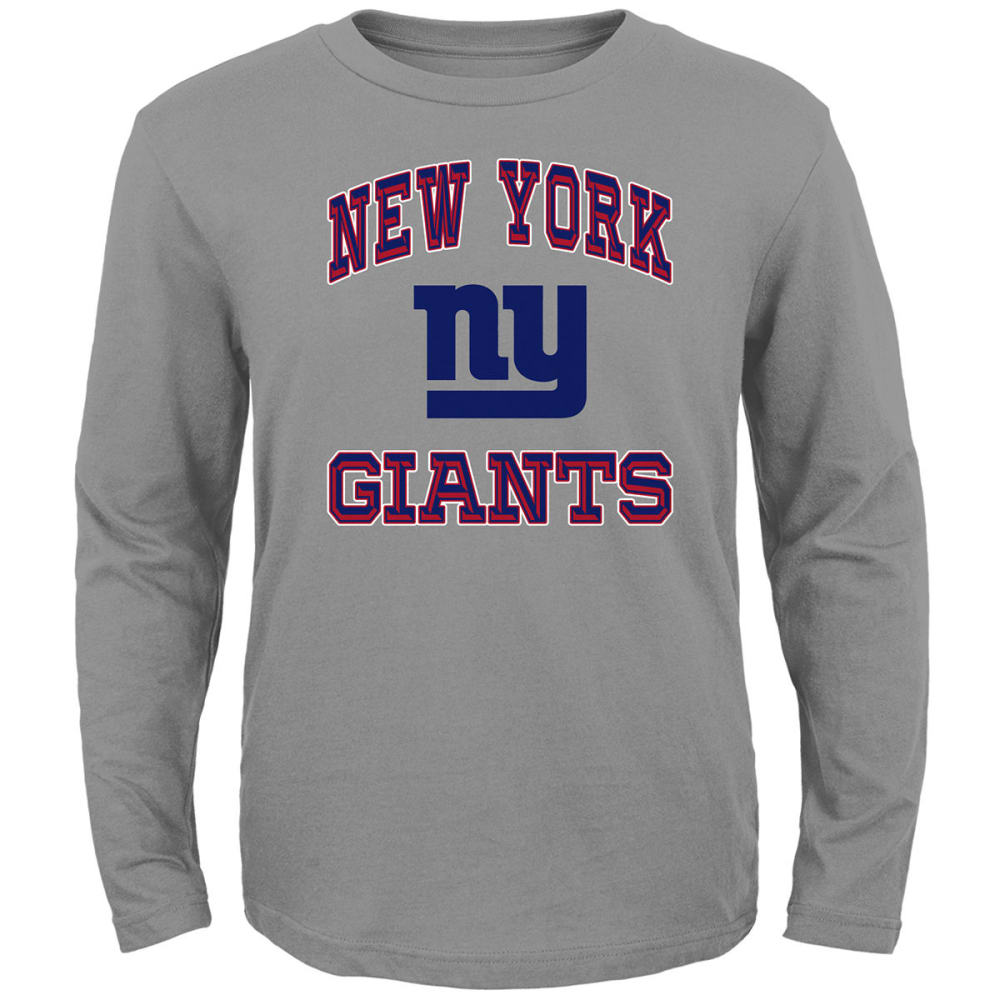 NEW YORK GIANTS Big Boys' Gridiron Hero Long-Sleeve Tee S