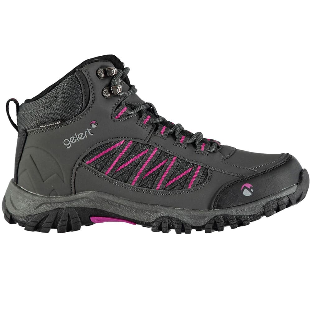 GELERT Women's Horizon Waterproof Mid Hiking Boots - CHARCOAL