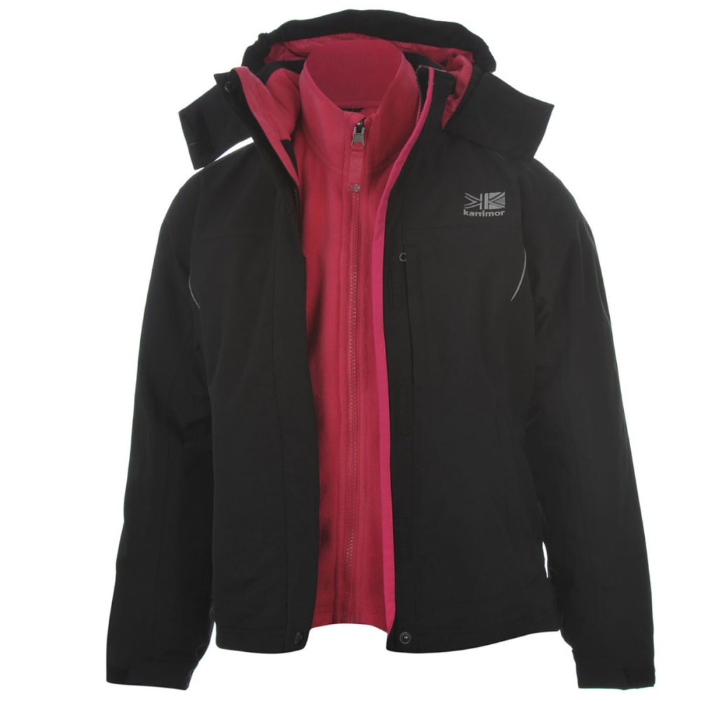 KARRIMOR Big Kids' 3-in-1 Jacket - BLACK/PINK