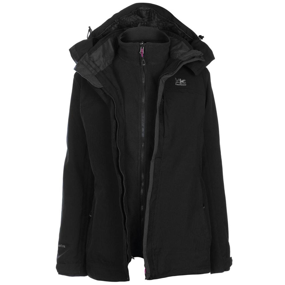 Karrimor Women's 3-In-1 Jacket - Black, 10