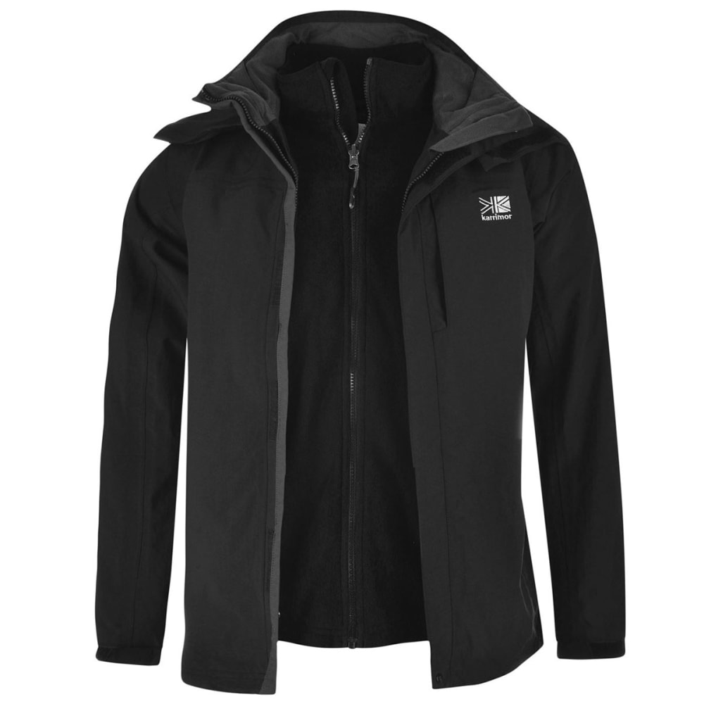 KARRIMOR Men's 3-in-1 Jacket - BLACK