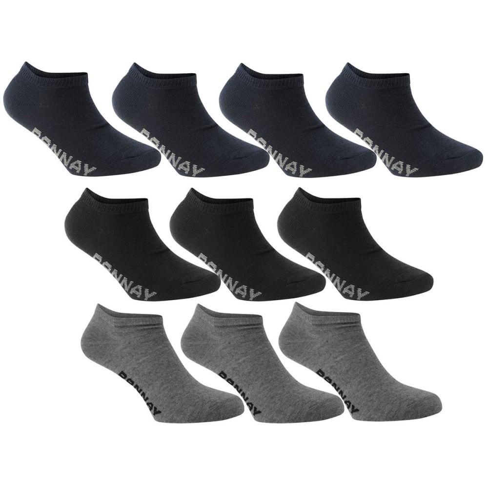 DONNAY Kids' Sneaker Socks, 10-Pack - DARK ASST