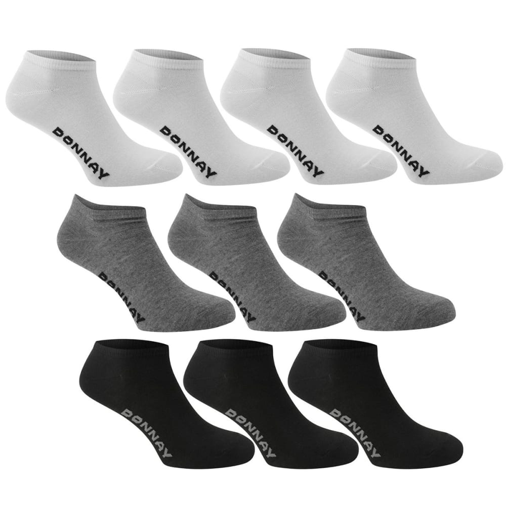 DONNAY Men's Sneaker Socks, 10-Pack - Multi Asst