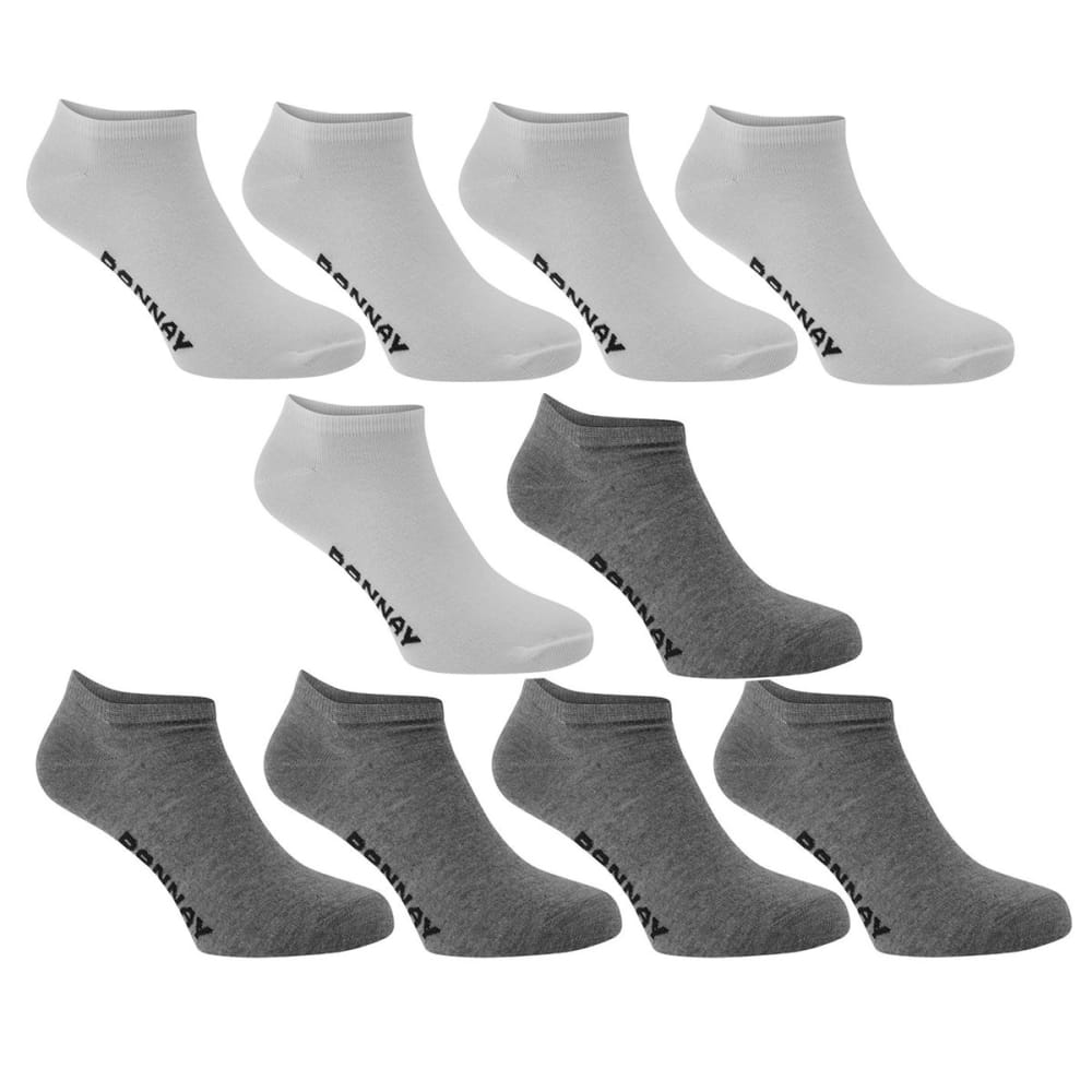 Donnay Men's Sneaker Socks, 10-Pack - White, 13+