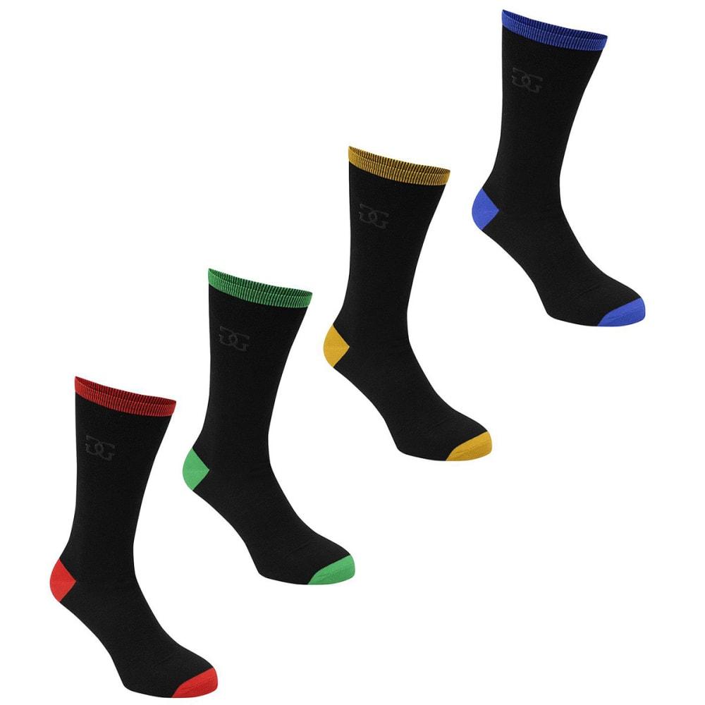 GIORGIO Kids' High Socks, 4-Pack - -