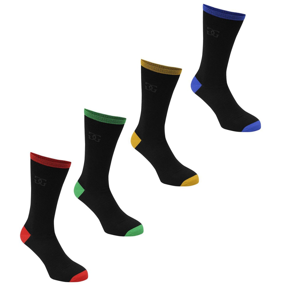 GIORGIO Men's High Socks, 4-Pack - -