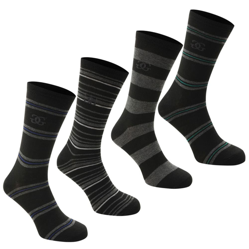 Giorgio Kids' Striped Socks, 4-Pack - Various Patterns, 2Y-7Y