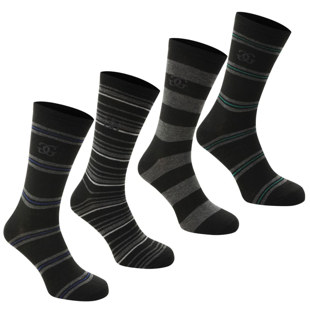 GIORGIO Men's Striped Socks, 4-Pack - -