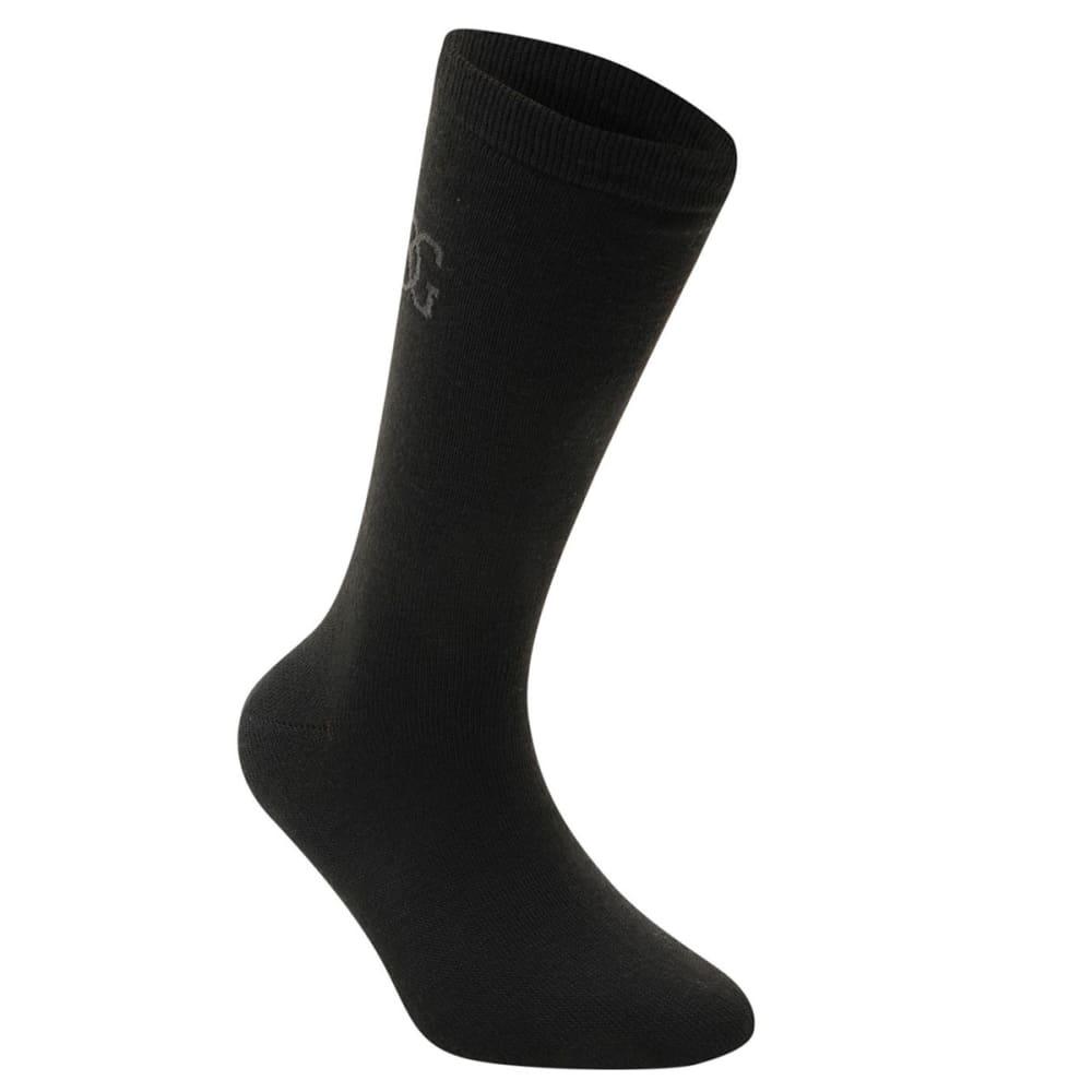 GIORGIO Kids' Classic Socks, 5-Pack - BLACK