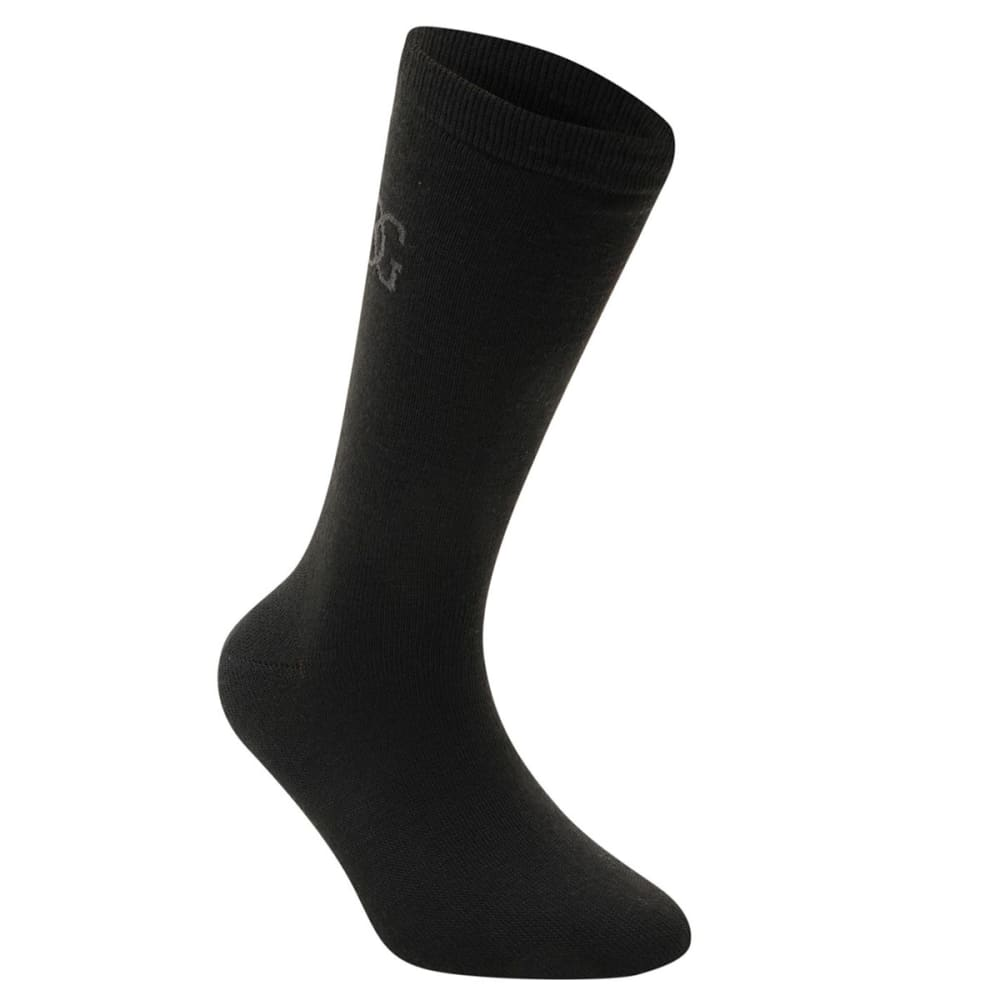 GIORGIO Men's Classic Socks, 5-Pack - BLACK
