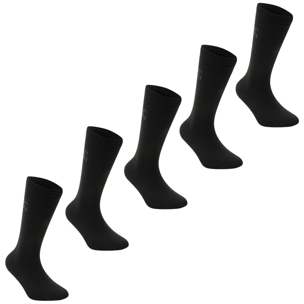 GIORGIO Men's Classic Socks, 5-Pack - BLACK
