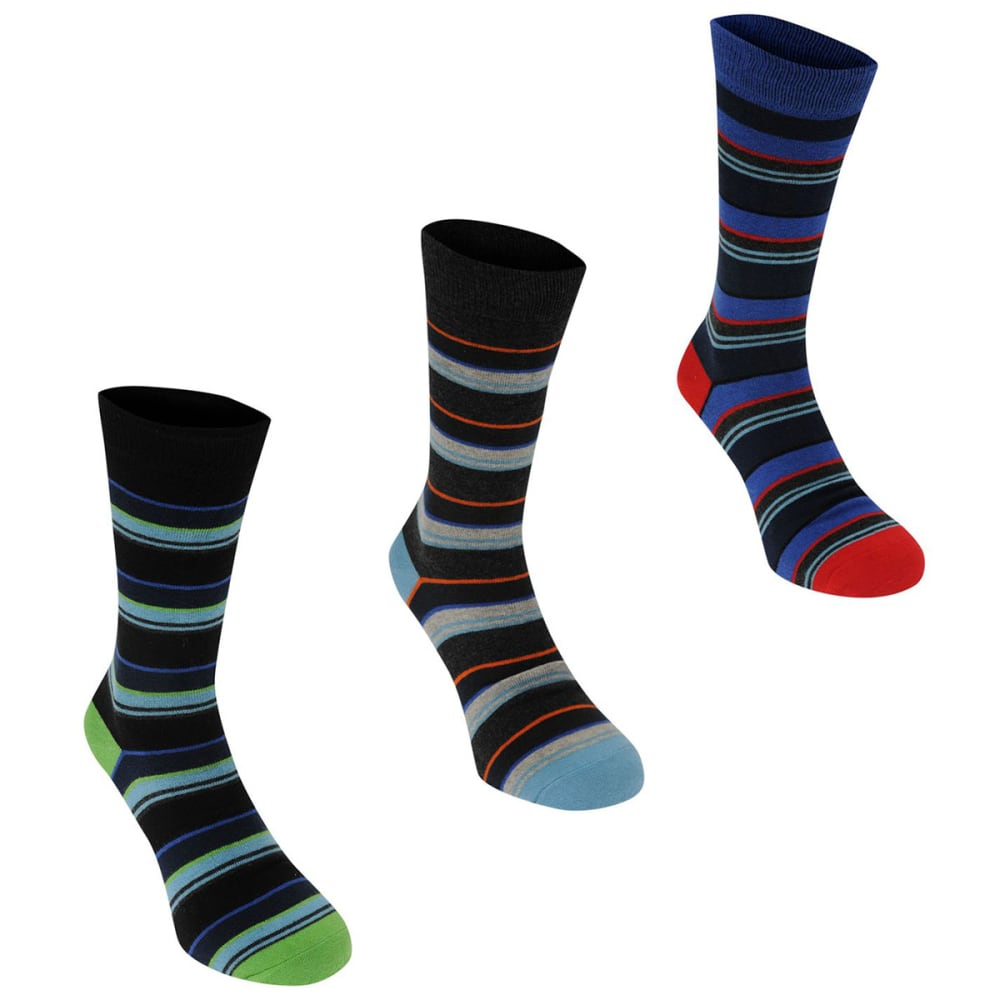 KANGOL Men's Formal Socks, 3-Pack 8-12