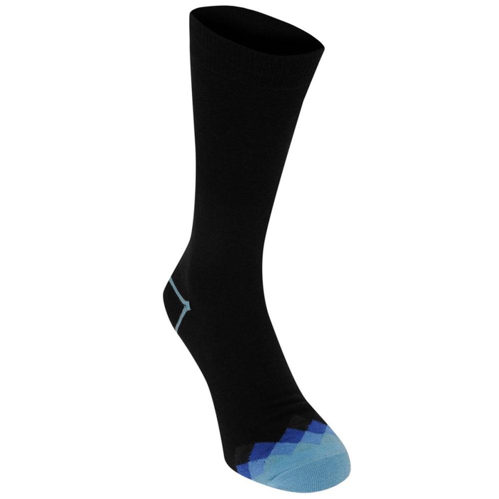 KANGOL Men's Formal Socks, 3-Pack - Check Toes