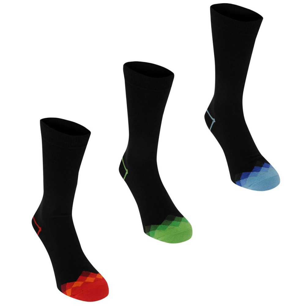 KANGOL Men's Formal Socks, 3-Pack - Check Toes