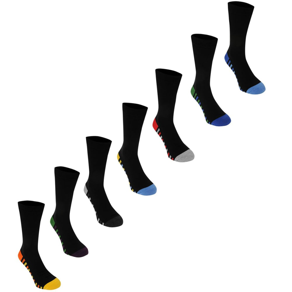KANGOL Men's Formal Socks, 7-Pack - Colour Str Sole