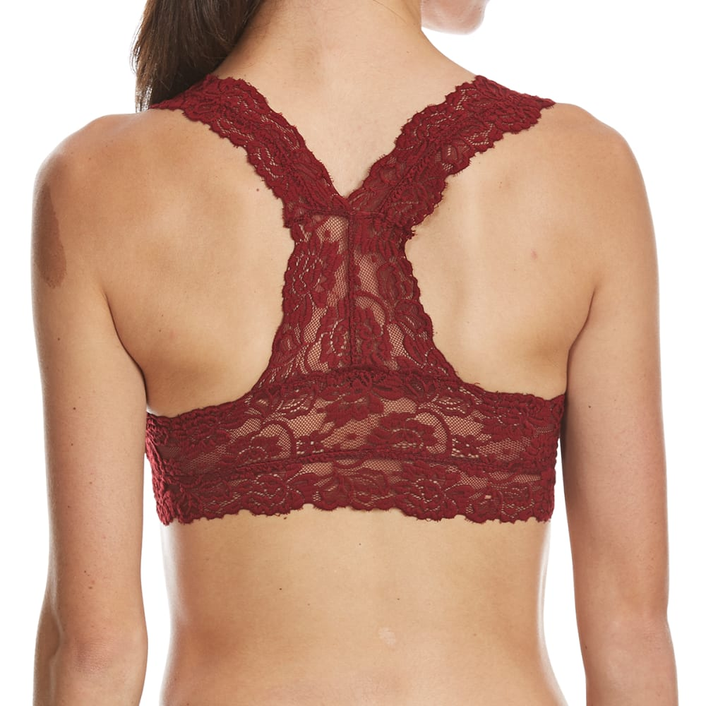 RENE ROFE Juniors' Just In Lace Bralette - CAB-BURGUNDY