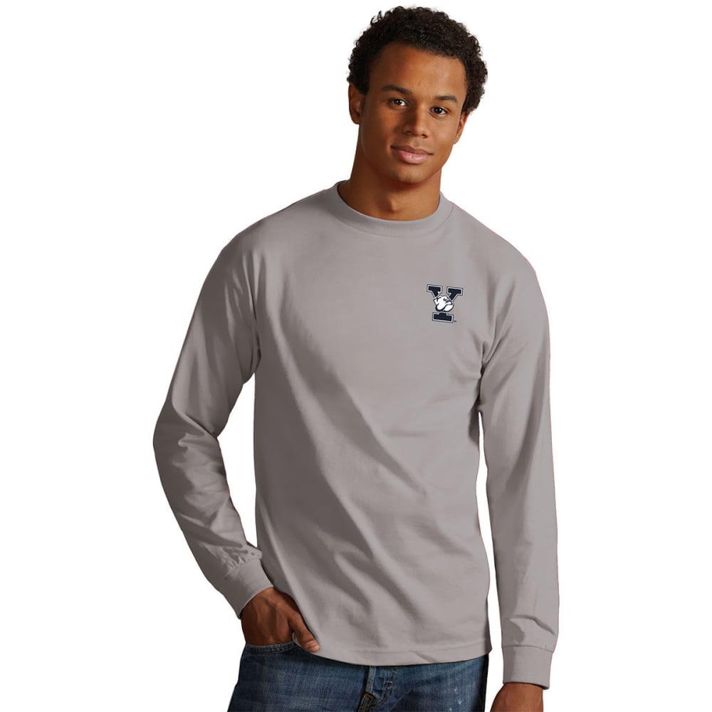 Yale Men's Crew Long-Sleeve Tee - Blue, M