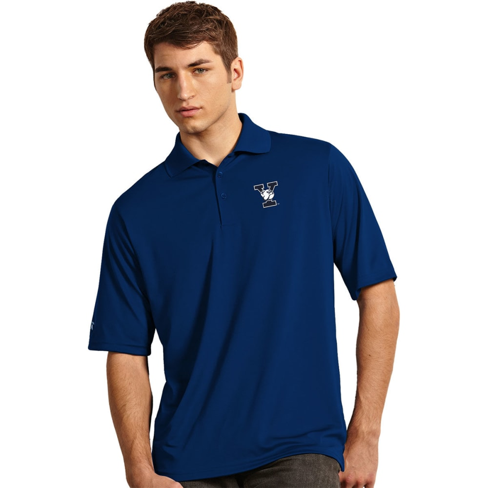 Yale Men's Exceed Short-Sleeve Polo Shirt - Blue, XXL