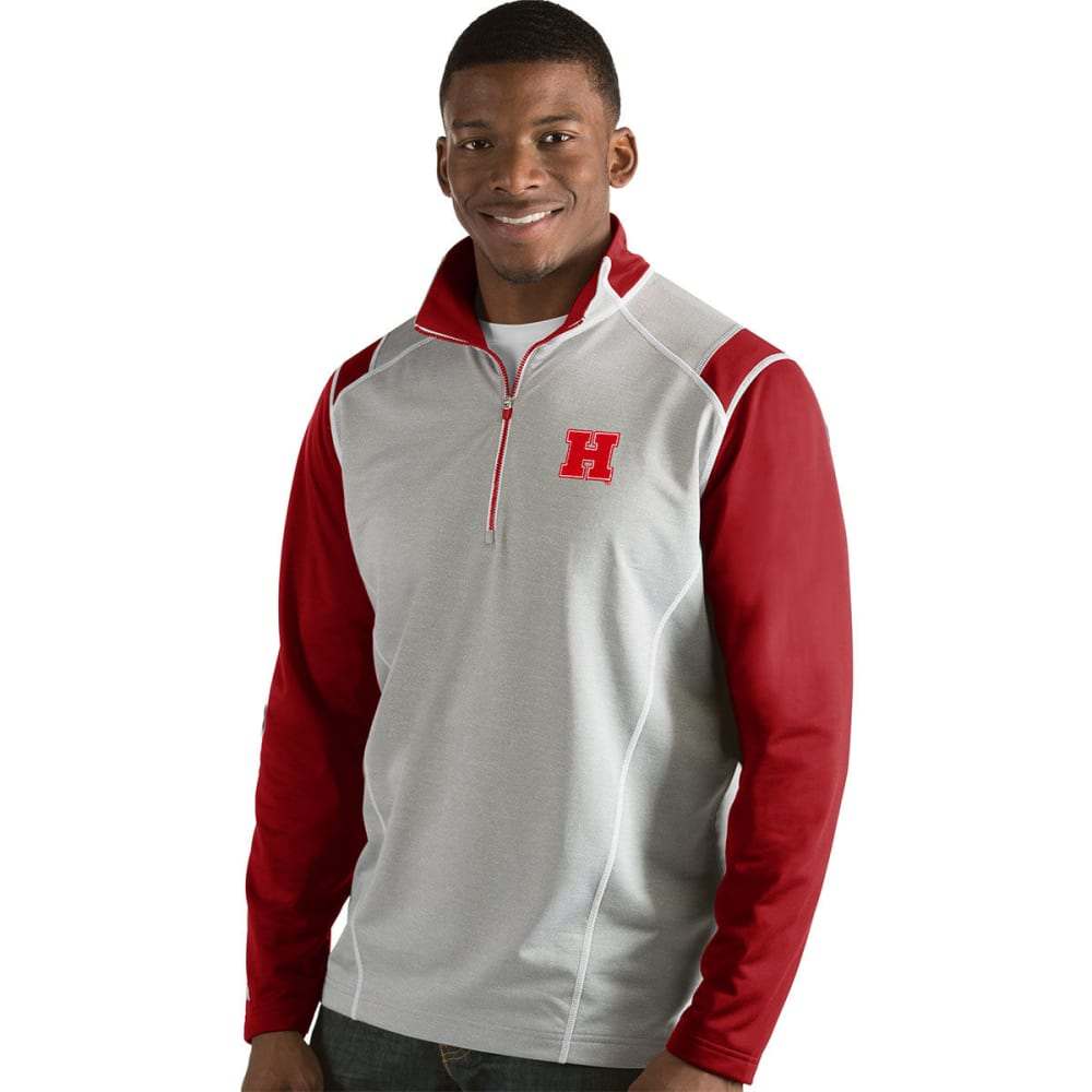 HARVARD Men's Automatic 1/4 Zip Long-Sleeve Pullover - RED