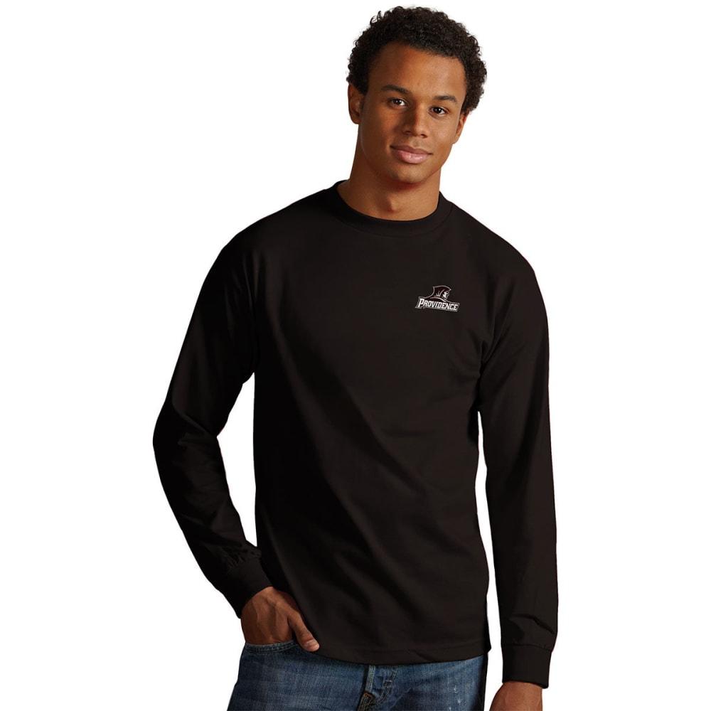 PROVIDENCE COLLEGE Men's Crew Long-Sleeve Tee - BLACK