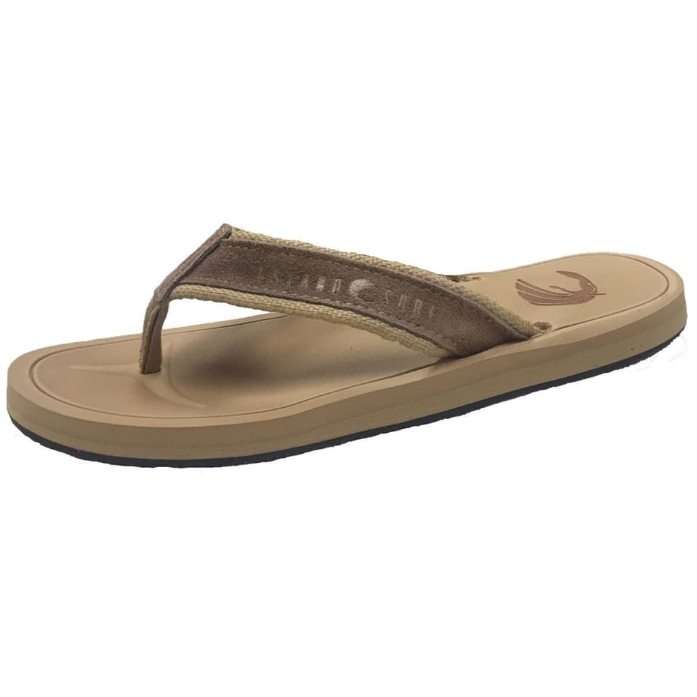 ISLAND SURF Men's Aloha Flip Sandals - TAN