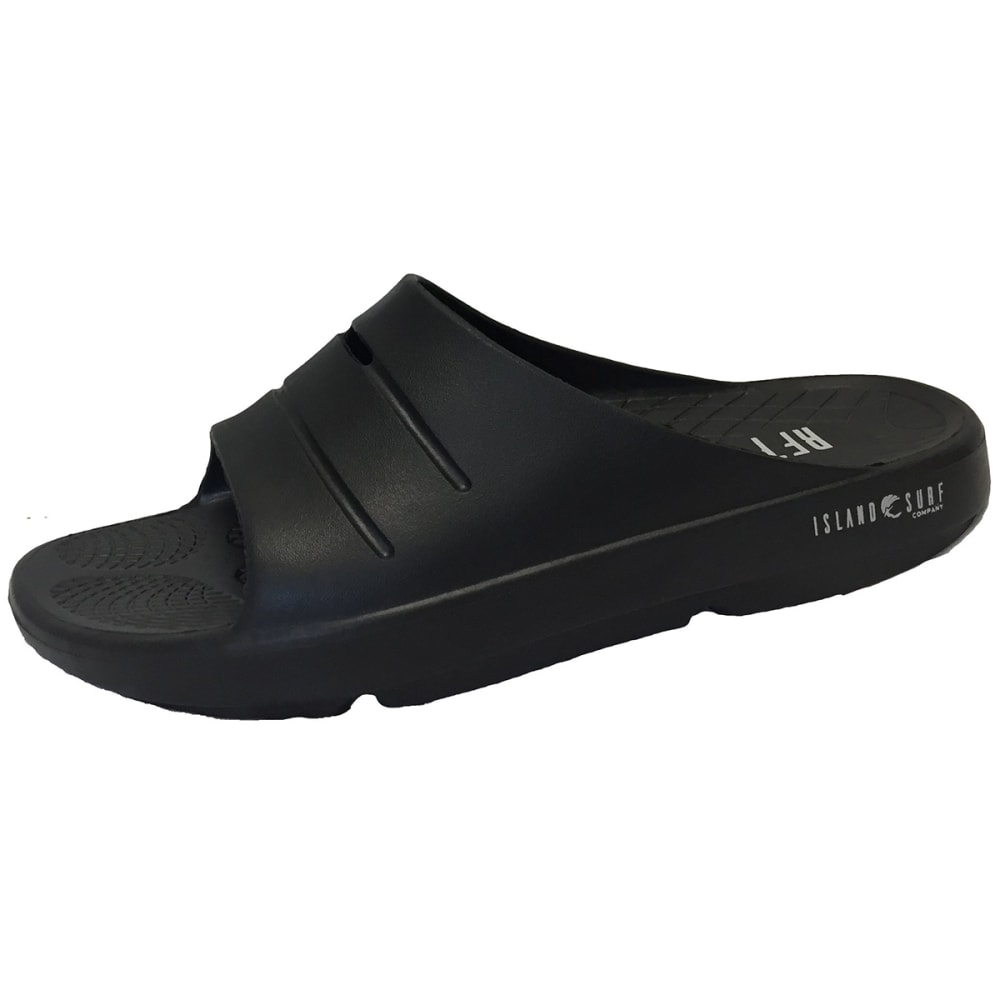 ISLAND SURF Men's Crest Slide Sandals - BLACK