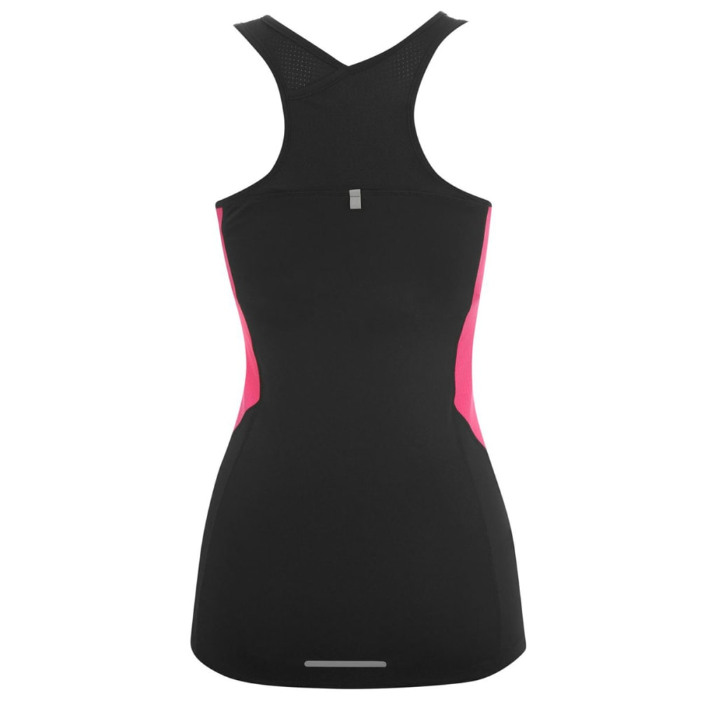 KARRIMOR Women's Long Bra Top - BLACK/PINK