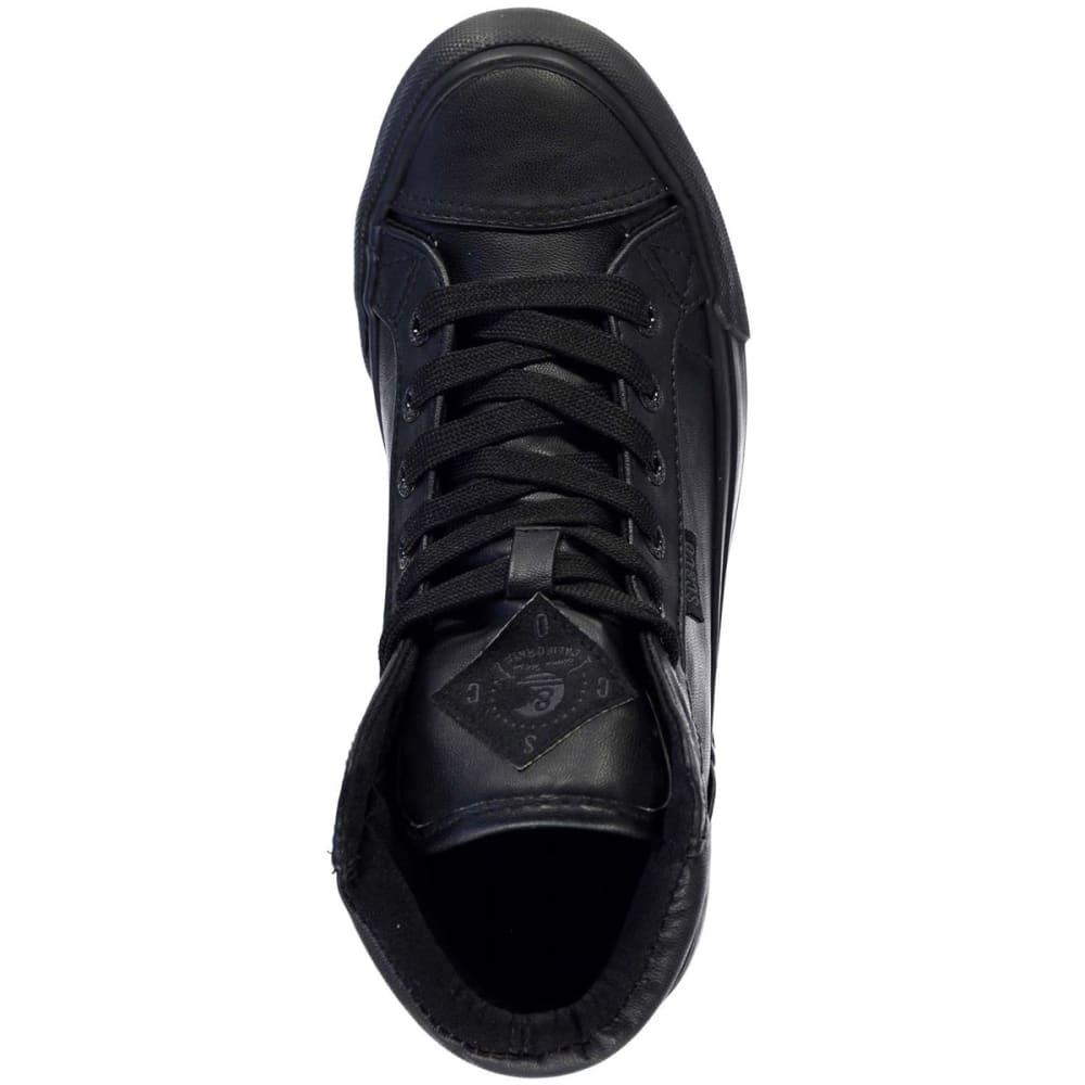 SOULCAL Big Kids' Asti High-Top Sneakers - BLACK/BLACK