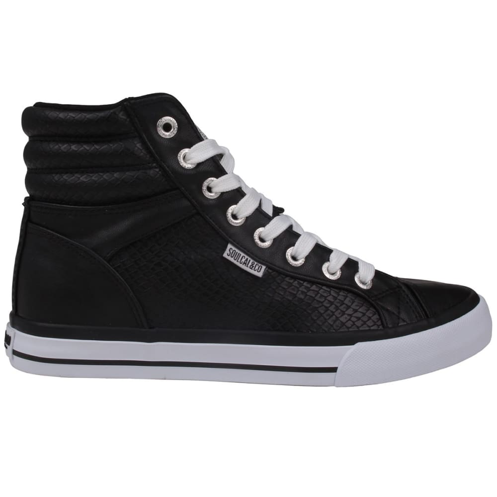 SOULCAL Women's Asti High-Top Sneakers - Black/Snake
