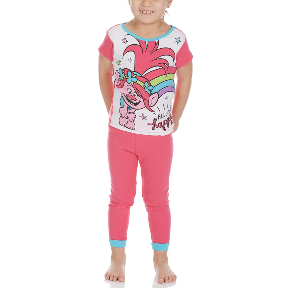 Ame Little Girls 4-Piece Trolls Short-Sleeve Sleep Set - Various Patterns, 4