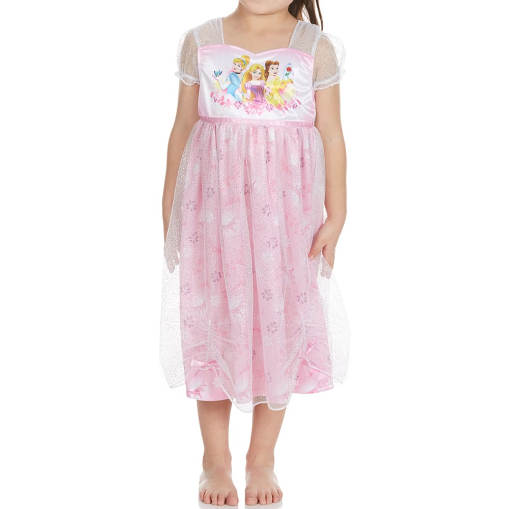 Ame Little Girls Disney Princesses Nightgown - Various Patterns, 4